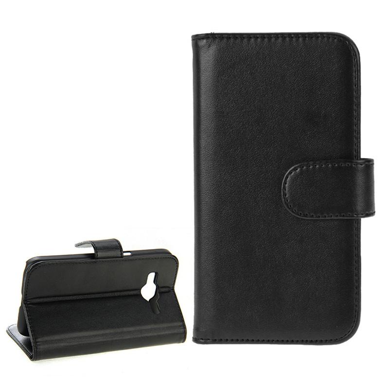 Plånbok i konstläder för Samsung Galaxy Core Prime