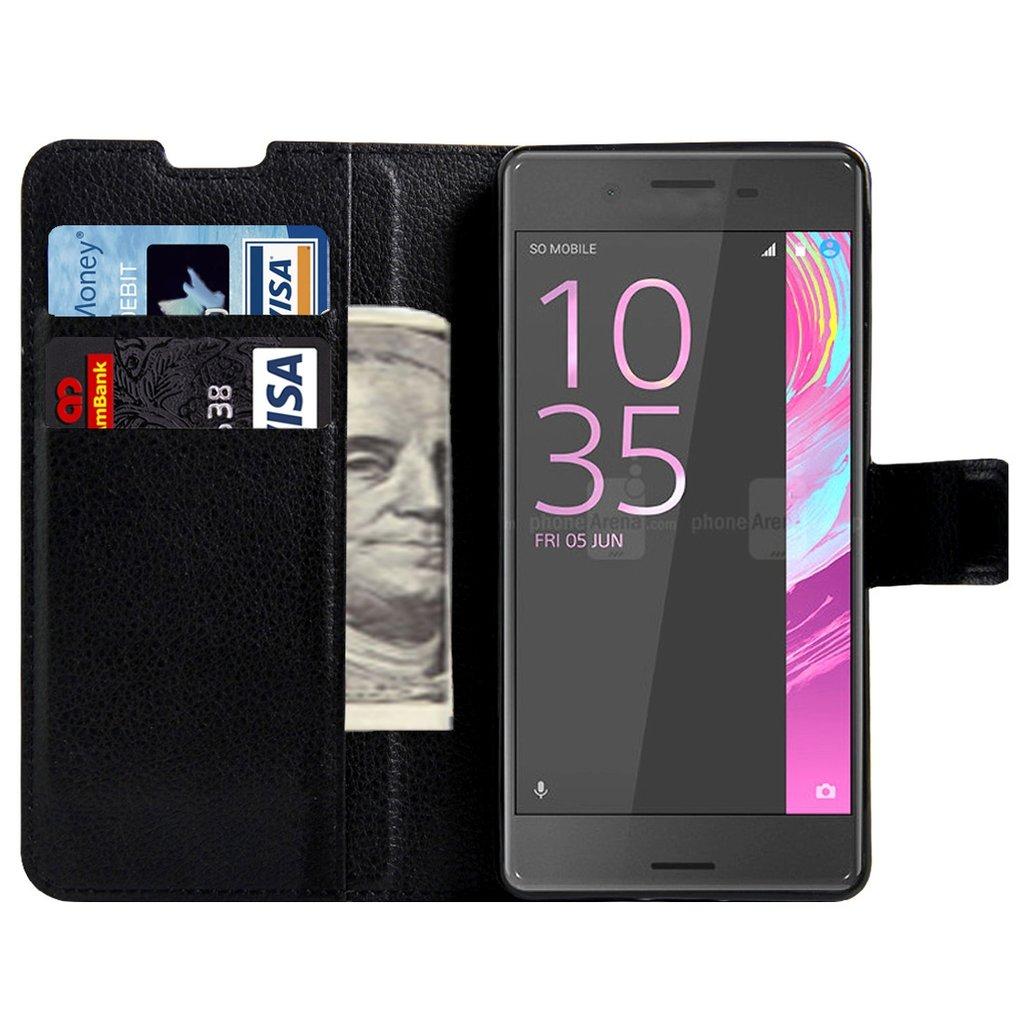 Sony Xperia E5 - Plånbok i konstläder med TPU-skydd