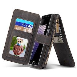 Plånbok 14x kortfack, myntfack Samsung Galaxy Note 7