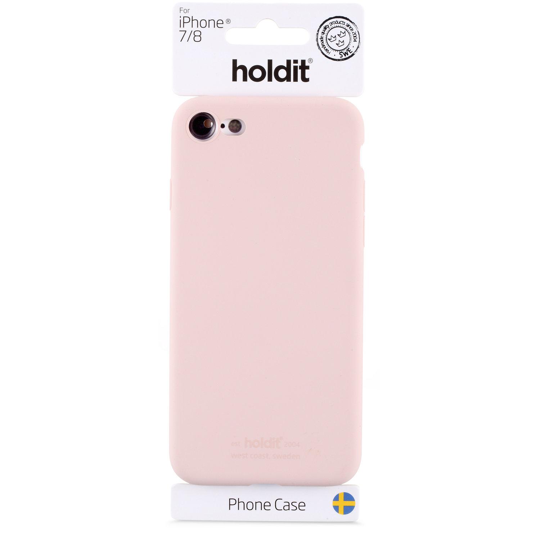 Holdit - MOBILSKAL SILIKON BLUSH PINK- iPhone 7/8/SE 2020
