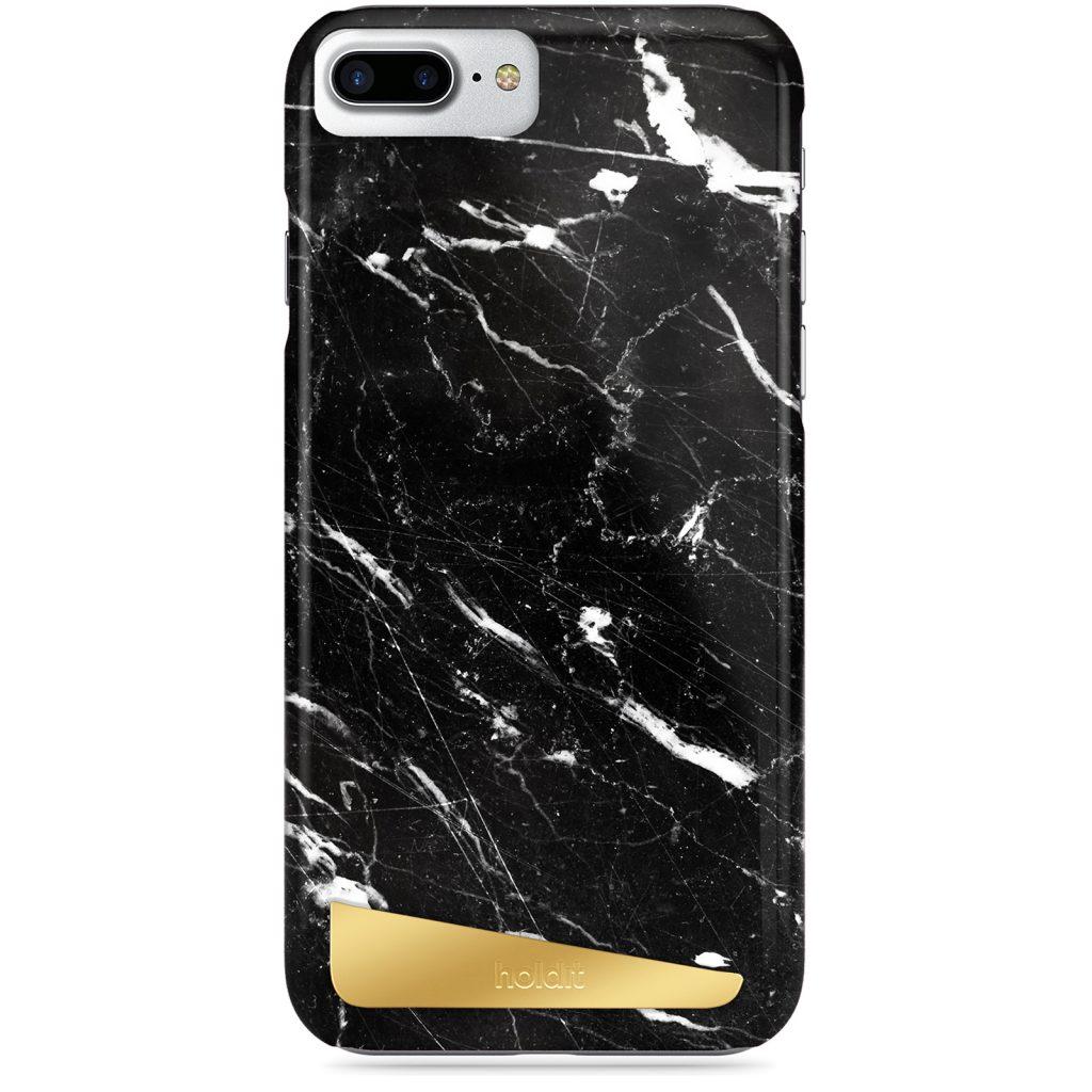 Holdit- LÅNGASAND BLACK MARBLE- iPhone 6/7/8 Plus