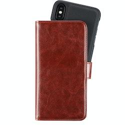 Holdit- iPhone X - Magnetplånbok brun