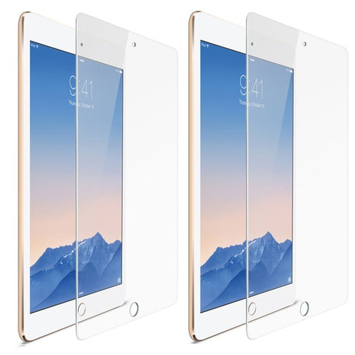 iPad 9,7 (2017/2018), iPad Pro 9.7, Air, Air 2 - 2-pack Härdat glas skärmskydd