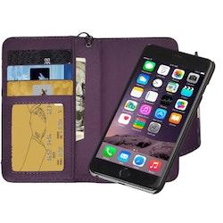 Plånbok med magnetskal för iPhone 6 och 6s