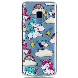 Enhörningar med moln- skal till Samsung Galaxy S9