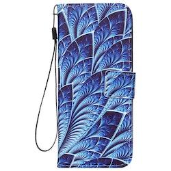 Blå mönstrad Plånbok för Samsung Galaxy S9