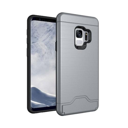 Stöttåligt skal med kortficka- Samsung Galaxy S9