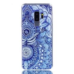 Blått mönstrat skal- till Samsung Galaxy S9 Plus