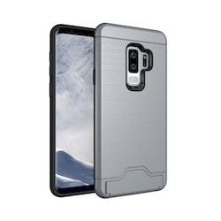 Stöttåligt skal med kortficka- Samsung Galaxy S9 Plus