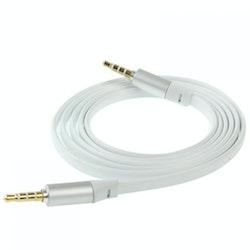 Trasselfri platt 3.5mm AUX-kabel / ljudkabel 120cm
