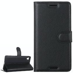 Plånbok i konstläder för Sony Xperia X