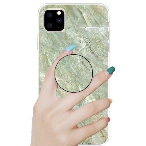 Marmor skal med smart knapp för iPhone 11