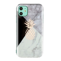 Marmorskal med ananas för iPhone 11