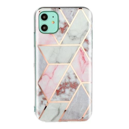 Mönstrat skal med marmor för iPhone 11