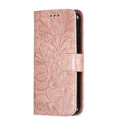 Mönstrad rosa plånbok för iPhone 11