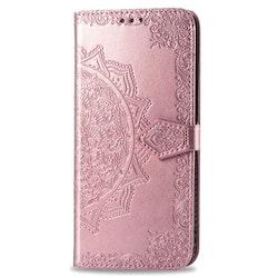 Plånbok i rosa mönster för iPhone 11 PRO