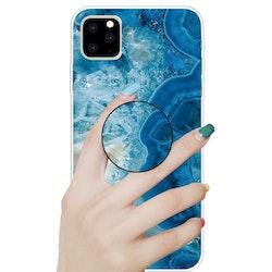 Marmor skal med smart knapp för iPhone 11 PRO MAX