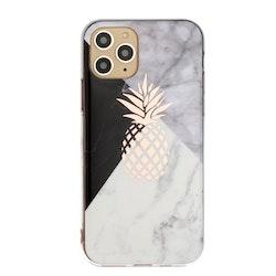 Mönstrat marmor med ananas- skal för iPhone 11 PRO MAX