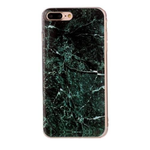 Mörkgrön marmor- skal för iPhone 7/8 plus