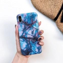 Blå/lila Marmorskal - för iPhone Xs Max