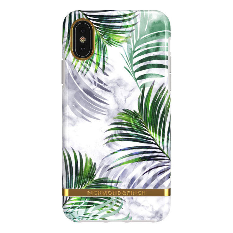 Richmond & Finch- iPhone Xs Max, WHITE MARBLE TROPICS