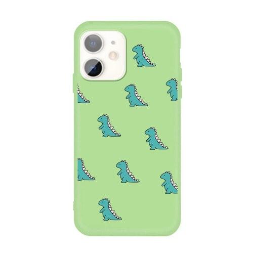 Grönt skal med dinosaurier- skal för iPhone 11