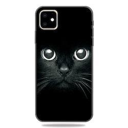 Svart skal med katt för iPhone 11 PRO MAX