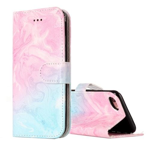 Plånbok med marmor mönster till iPhone 7/8/SE 2020