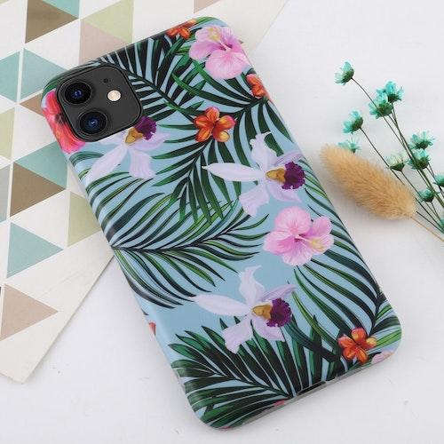 Bananblad och blommor- skal för iPhone 11