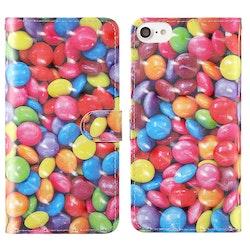 Plånbok med godis mönster till iPhone 7/8/SE 2020