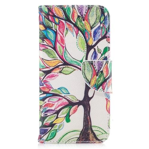 Färgglatt träd- Plånbok till iPhone 7/8/SE 2020