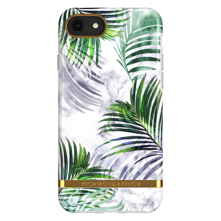 Richmond & Finch- White marble tropics - iPhone 7/8/SE 2020