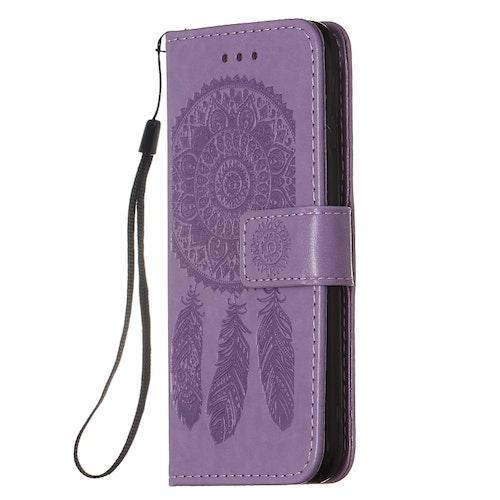 Lila plånbok med mönster till iPhone 7/8/SE 2020