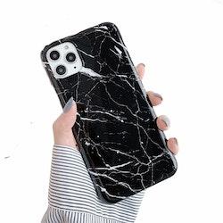 Svart Marmor skal- iPhone 12 / 12 PRO