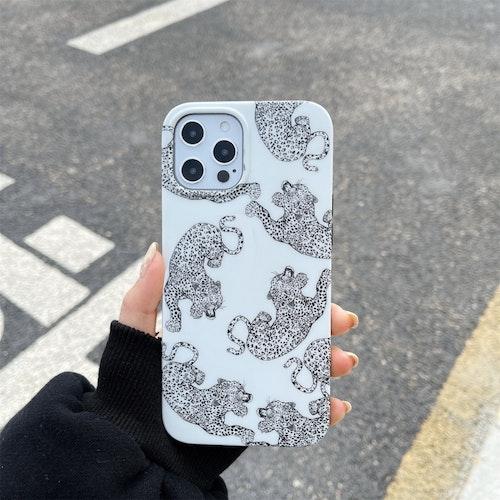 Leopard vit- skal till iPhone 12 / 12 PRO
