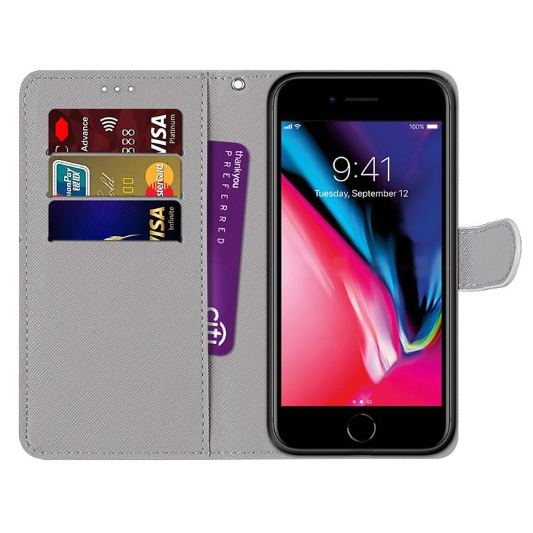 Plånbok med mönster till iPhone 7/8/SE 2020