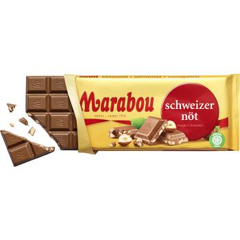 Chokladkaka Schweizernöt 150g Marabou