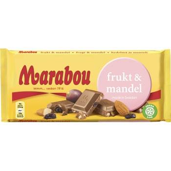 Frukt & mandel 200g Marabou