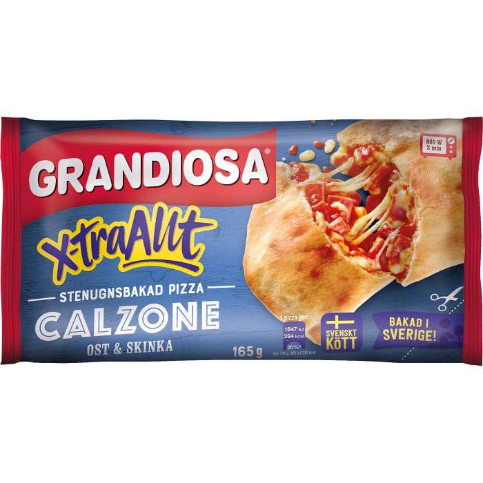 Extra allt calzone Ost & skinka Minipizza 165g Grandiosa