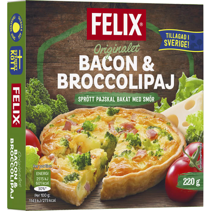 Bacon & broccolipaj 220g Felix