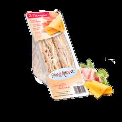 Tramezzino Skinka och Ost Smörgås