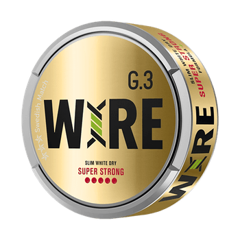 General G.3 WIRE Slim White Dry Super Strong Portionssnus