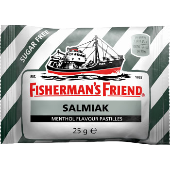 Salmiak Sockerfri 25g Fisherman's Friend