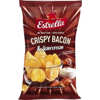 Chips Crispy Bacon Sourcream 175g Estrella