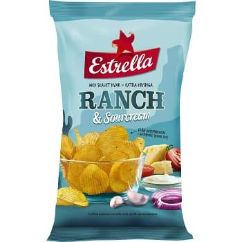 Chips Ranch & sourcream 175g Estrella