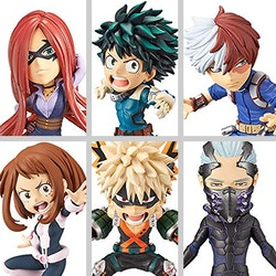 My Hero Academia, WCF, Heroes Rising, Set of 6 Figures