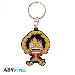 One Piece Luffy PVC Keychain