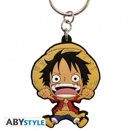 One Piece Luffy PVC Keychain