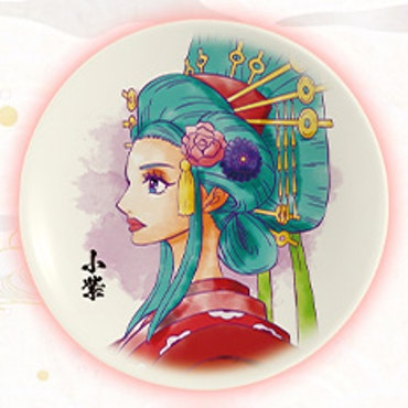 One Piece Komurasaki Decorative Porcelain Plate