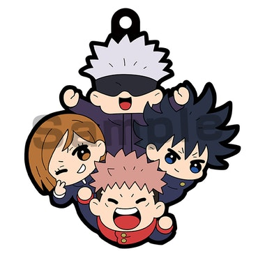 Jujutsu Kaisen Rubber Mascot Buddy Colle Vol.2 Set of 6 Keychains